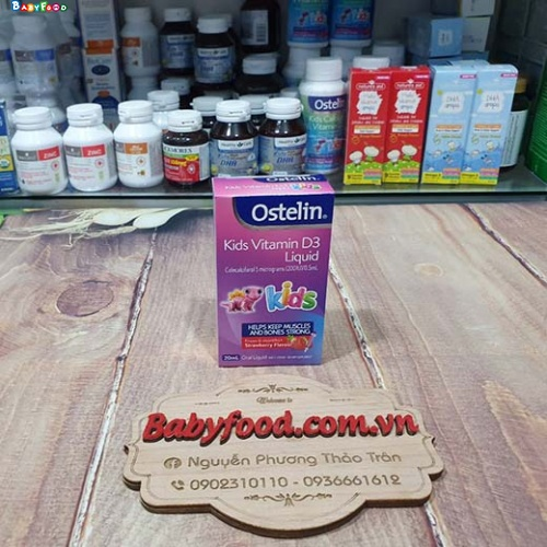 Vitamin D Ostelin liquid Kids của Úc 20ml